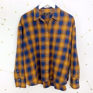 Madewell • Westward Plaid Button Down Shirt Orange